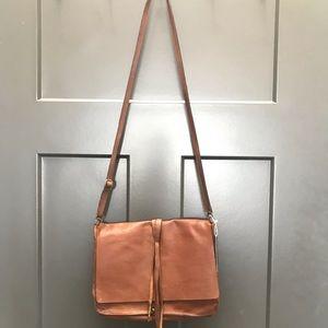 Leather satchel purse